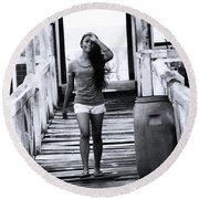 Round Beach Towel featuring the photograph The Wind I My Soul by Jez C Self