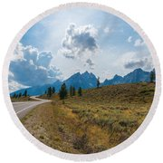 The Winding Road Round Beach Towel by Sharon Seaward