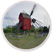 The Windmill Round Beach Towel