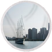 The Windy City Round Beach Towel