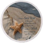 The Wish Round Beach Towel