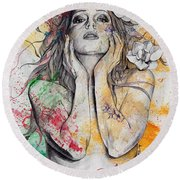 The Withering Spring Round Beach Towel