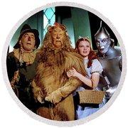 The Wizard Of Oz  Quartet Eric Carpenter Publicity Kodachrome 1939 Round Beach Towel
