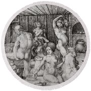The Women's Bath, 1496 Round Beach Towel