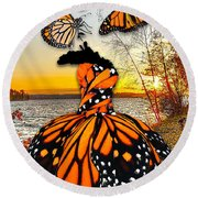 Round Beach Towel featuring the mixed media The Wonder Of You by Marvin Blaine