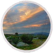 Round Beach Towel featuring the photograph The Wonders Of Sunset by Glenn McCarthy Art and Photography