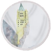 The Woolworth Building Round Beach Towel