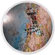 The World Is Your Playground Round Beach Towel
