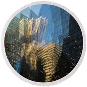 Round Beach Towel featuring the photograph The World Keeps Turning by Alex Lapidus