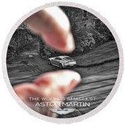 The Worlds Smallest Aston Martin Round Beach Towel