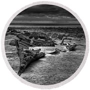 The Wreck Of The Steam Trawler Round Beach Towel
