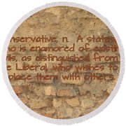 The Writing On The Wall Three Round Beach Towel