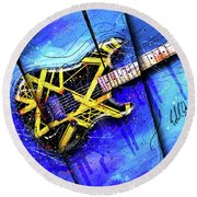 The Yellow Jacket_cropped Round Beach Towel