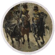 The Yellow Riders, George Hendrik Breitner, 1885 - 1886 Round Beach Towel