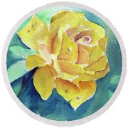 The Yellow Rose Round Beach Towel