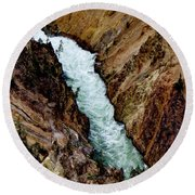 The Yellowstone Round Beach Towel