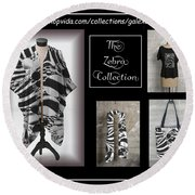 The Zebra Collection Round Beach Towel by Geraldine Alexander