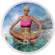 The Zen Girl Round Beach Towel