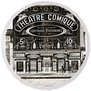 Theatre Comique Round Beach Towel