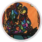 Theatrical Expression  Round Beach Towel