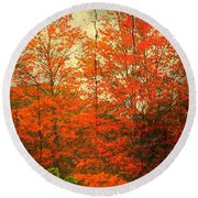 The Happiness Of Life By Taylor Coleridge Round Beach Towel