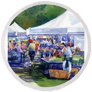 Theinsville Farmers Market Round Beach Towel