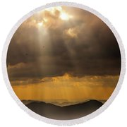 Round Beach Towel featuring the photograph Then Sings My Soul by Karen Wiles