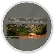 Theodore Roosevelt National Park Round Beach Towel