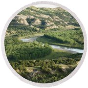 Theodore Roosevelt National Park - Oxbow Bend Round Beach Towel