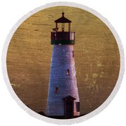 There Is A Lighthouse Round Beach Towel by B Wayne Mullins