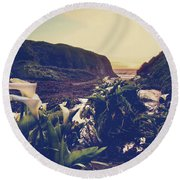 There Is Harmony Round Beach Towel by Laurie Search