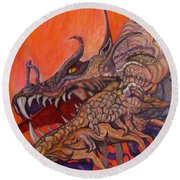 There Once Were Dragons Round Beach Towel