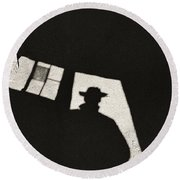 There's A New Sheriff In Town Round Beach Towel