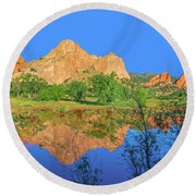 There's A Plenitude Of Awe-inspiring Rock Formations In Colorado.  Round Beach Towel by Bijan Pirnia