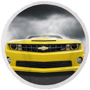 There's A Storm Coming - Camaro Ss Round Beach Towel