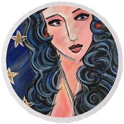There's A Wonder Woman In Us All Round Beach Towel
