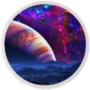 There's Just No Explaining The Universe Round Beach Towel