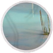 Thermal Reflection Round Beach Towel by Lana Trussell