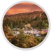 Thermal Village Rotorua Round Beach Towel
