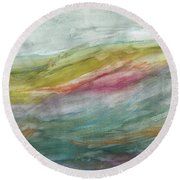 These Lonely Hills Round Beach Towel