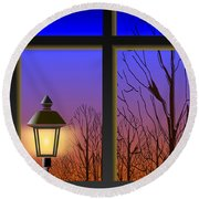 The Window II Round Beach Towel