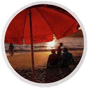 Things Go Better With Coke Round Beach Towel