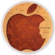 Think Different Steve Jobs  Round Beach Towel