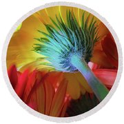 Think Spring Round Beach Towel
