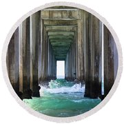 Thinking Outside Of The Box Round Beach Towel