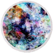 Round Beach Towel featuring the painting Third Bardo by Dominic Piperata