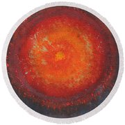 Third Eye Original Painting Round Beach Towel
