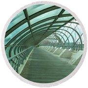 Third Millenium Bridge, Zaragoza, Spain Round Beach Towel