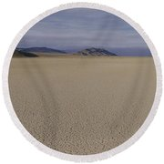 This Is A Dry Lake Pattern Round Beach Towel