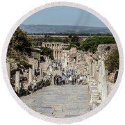 This Is Ephesus Round Beach Towel